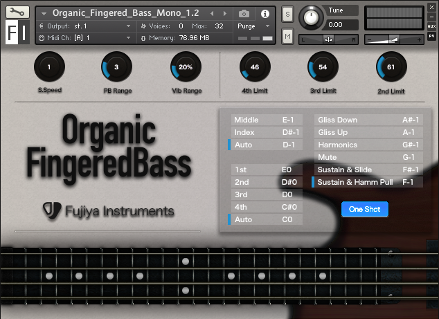 Fujiya Instruments Organic Fingered Bass[Virtual Electric